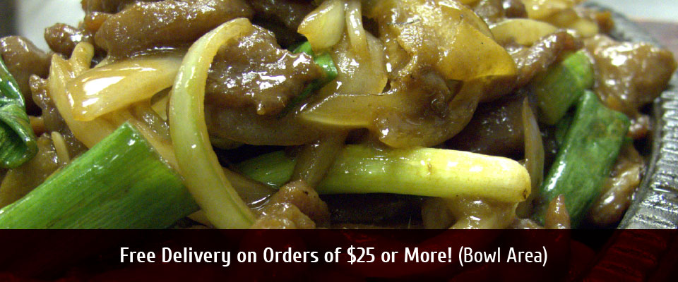 Free Delivery on OrdersOf $25 or More! (Bowl Area) Beef yaki udon